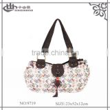 Classic Cotton Fabric Handbag Ladies Newest Printing Tote Bag Wholesale