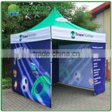 Custom Print Aluminum Pop Up Pagoda Trade Show Tent 3x3m ( 10ft X 10 ft), Printed canopy & valance, 3 full walls
