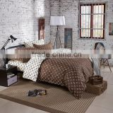UK style 100%cotton bed set duvet cover cheap printed twill fabric OEM 100%cotton bed sheets