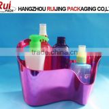 Fancy plastic mini bathtub container for bath products container,hot sale cosmetic products storage container