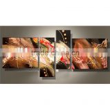 JC New Style 4 Pieces Abstract Wall Art Home Decoration Handmade Oil Painting On Canvas HP-30                                                                         Quality Choice