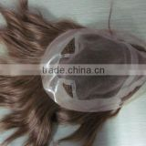6 inch thin skin human hair toupee hair pieces hand injected lace wigs