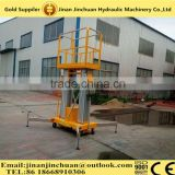 Double-controlled aluminium aerial lift platform/ telescopic hydraulic lifts/lifting equipment