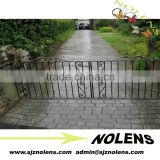 Swing Open Style and wrought iron sliding gates/entrance wrought iron gate&metal gate with spearhead for wholesale