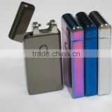 Altra-thin Double cross fire ice new electric arc gold colorful charge usb lighters smoker sexy colorful ice man