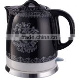1.2L Ceramic Electric Porcelain Kettle With Black Color KT-110