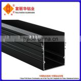 Black Anodized, Silver Anodized Aluminum Groove Tube for Structure, Channel, Decorative and Industry