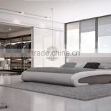 Modern Hot Sale Double Bed Design Furniture Made From Fabric Or Genuine Leather For House Or Hotel use