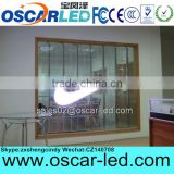 Shenzhen Oscarled high quality optoelectronic transparent led curtain display