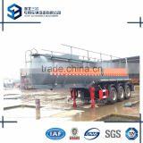 Sulphuric Acid Tanker Trailer 18 m3 Chemical Liquid Tank Semi Trailer 3 axles Tank Truck Trailer