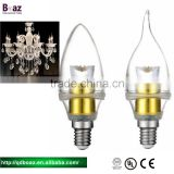 battery operated and raw materials led light candle bulb