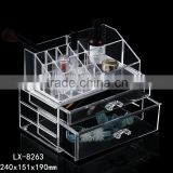 2016 newest PS 2 drawers makeup boxes storge transparent acrylic cosmetic organizer                                                                         Quality Choice