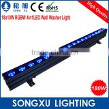 hiqh quality waterproof outdoor 18x10w grbw led linear wall wash light for stage wedding party outdoor decoration