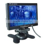 car accessories 7' TFT-LCD rear view car monitor with remote control 2 video/1 audio input
