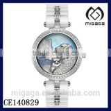fashion rhinestone cute animal dial ceramic watches-cute polar bear ceramic watches for ladies