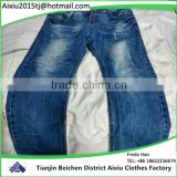 Factory high quality used jean pants clothes wholesale in bales