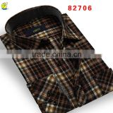 Fashion Cotton Long Sleeve Plaid Thick Mens Shirts Polo Man Shirt                                                                         Quality Choice