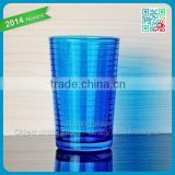 hot sale drinkware colorful highball glass blue beer pint glass