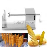 1pcs Stainless Steel Manual Twisted Potato Slicer Spiral French Fry Vegetable Cutter