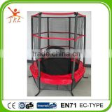 55inch kids mini indoor trampoline with safety enclosure for sale
