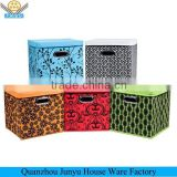 Hot sales fold non-woven storage box with cover
