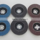 Calcined alumina flap disc Fiber glass backing for metal