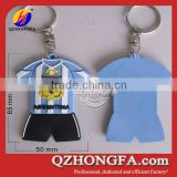 2014 Brazil World Cup Brazil T-shirt 3D PVC Key Ring