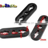 "7/16*1/8""(11*4mm) 3 Holes Flat Soft Sliding Pointed Oval Cord Lock Stopper For Shoelace Or Sportswear Accessories #FLS105"