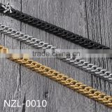 Stainless steel jewelry factory 15mm stainless steel silver black gold plated heavy curb chain link necklace