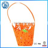 Colorful Pumpkin Hollowing Bucket type Halloween Bag Non Woven Pumpkin Bag