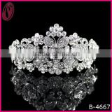 Factory Price Crystal Butterfly Crown Tiara For Girls 2013