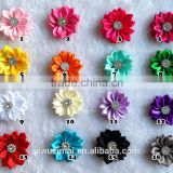 DIY Satin Ribbon Flower with Crystal Bead Appliques~Craft/Trim U pick                                                                         Quality Choice