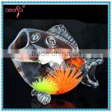 "22"" Large Fish Shaped Glass Fish Bowls Wholesale Aquarium Tank"