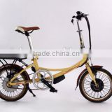 wuxi riches 16 inch cheap city lady hidden hub lithium battery electric bikes electric bicycle (Model CTB16F)