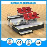 Celebrationtelescopic seating system with guard rail Selent telescopic seating telescopic platform retractable seating