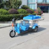 small garbage trash transportation cleaning collection electric tricycle with plastic dustbins