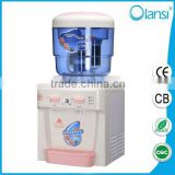 7 stage filter portable type alkaline plastic portable water dispenser with hot and cold 2 taps from China