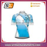 Stan Caleb Full sublimation dry fit zip up women cycling jersey