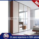 Wholesale walk in assembled bedroom closet wood wardrobe cabinets China