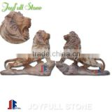 Marble Lion Sculpture, large garden marble lion statues for sale