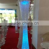 wedding decoration metal and crystal wedding pillars backdrop/acrylic round wedding pillars with LED light