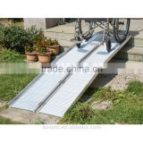 HomCom 10' Folding Portable Suitcase Mobility Wheelchair Threshold Ramp