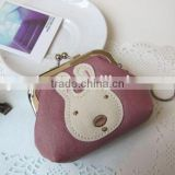 alibaba china factory bulk Metal twist frame leather material coin purse squeeze coin purse