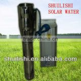 high flow solar submersible water pumps,72m3/h with 3inch 4inch outlet