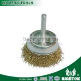WT0306006 bowel cup brush with shank brass plated wire