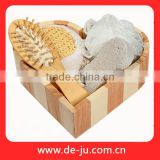 Natural Wooden Spa Five Pumice Stone Bath Set