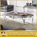 mable top silver coffee table tea table set