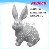 hot sale antique finish resin rabbit statues for garden decor