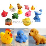 13pcs Rubber Animals With Sound Baby Shower Party Favors For Kid Baby Child Christmas Gift Toy Gift