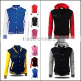 fashion satin hooded baseball jackets
